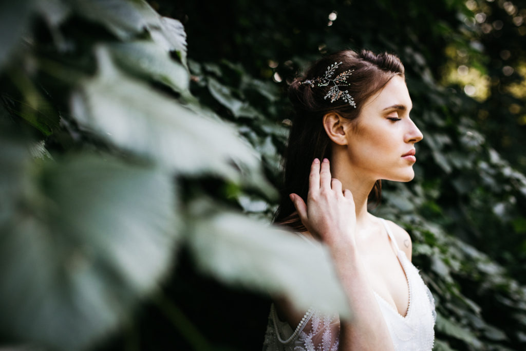 Ozdoba do włosów ze srebra, biżuteria ślubna