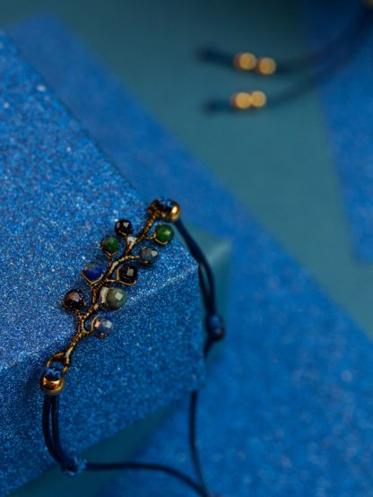 Las pod gwizadami bransoletka handmade